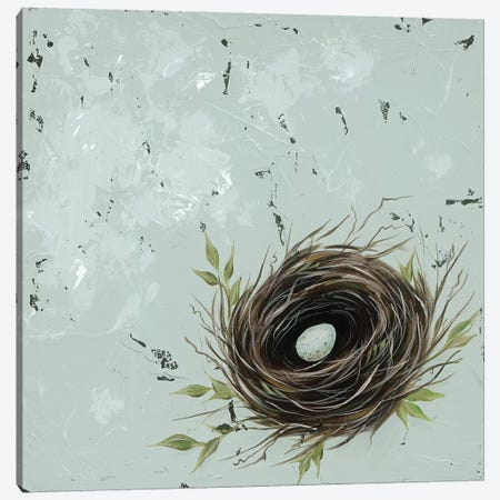 Flower Nest I Canvas Print #JAD87} by Jade Reynolds Canvas Art