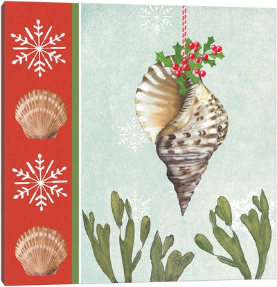 Christmas Coastal II Canvas Art Print
