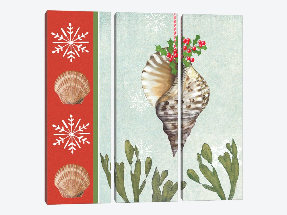 Christmas Coastal II by Jade Reynolds 3-piece Art Print