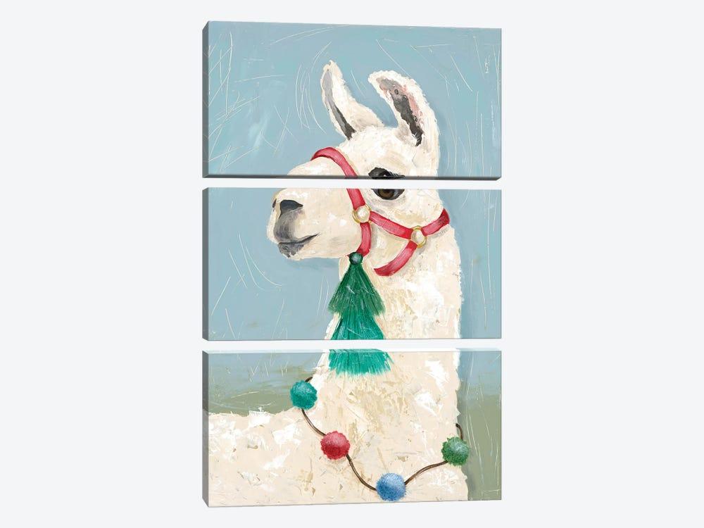 Painted Llama I by Jade Reynolds 3-piece Canvas Print