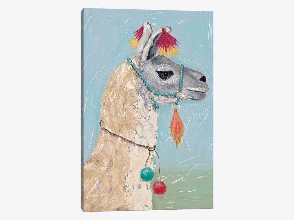 Painted Llama II by Jade Reynolds 1-piece Canvas Art