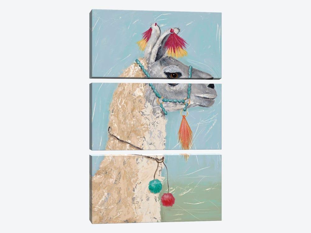 Painted Llama II by Jade Reynolds 3-piece Canvas Art