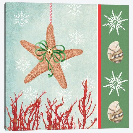 Christmas Coastal III Canvas Print #JAD9} by Jade Reynolds Canvas Art