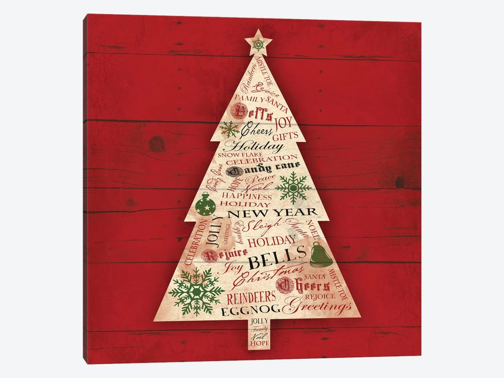 Christmas Tree Type by Jace Grey 1-piece Canvas Wall Art
