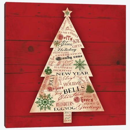 Christmas Tree Type Canvas Print #JAG11} by Jace Grey Canvas Art Print