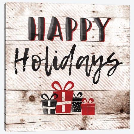 Happy Holiday Presents Canvas Print #JAG17} by Jace Grey Canvas Artwork