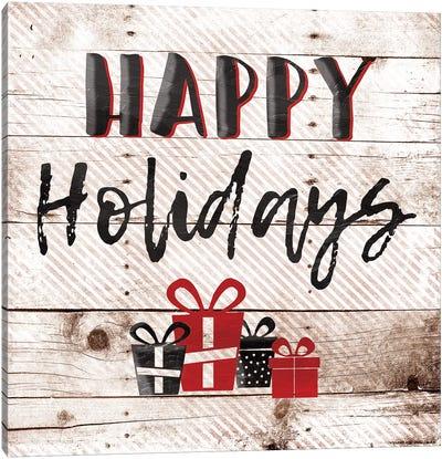 Happy Holiday Presents Canvas Art Print