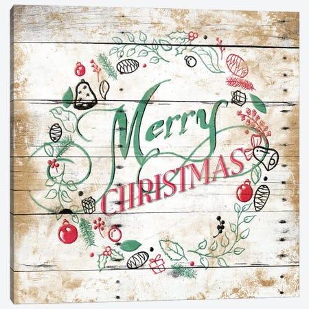 Merry Christmas Wreath Canvas Print #JAG20} by Jace Grey Canvas Wall Art