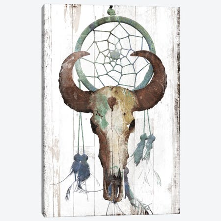 Bull With Dreamcatcher Canvas Print #JAG37} by Jace Grey Canvas Wall Art