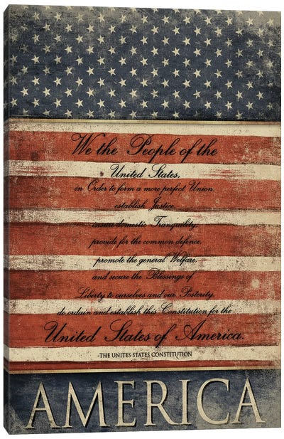 We The People Canvas Art Print
