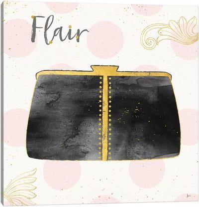 Fashion Blooms II In Black Canvas Art Print