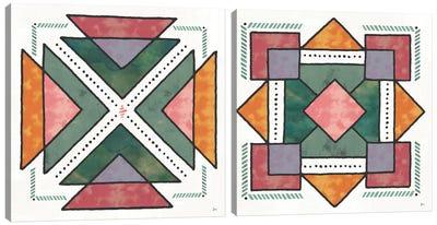 Spectrum Diptych Canvas Art Print
