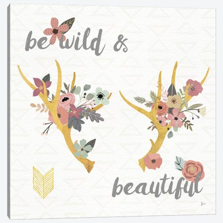 Boho Beauty I Pastel Canvas Print #JAI9} by Jess Aiken Art Print