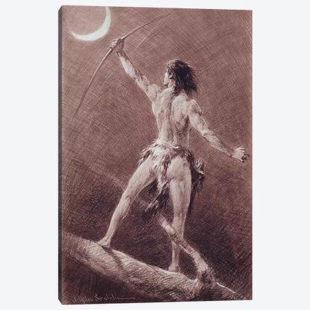 Jungle Tales Of Tarzan Canvas Print #JAJ3} by J. Allen St. John Canvas Artwork