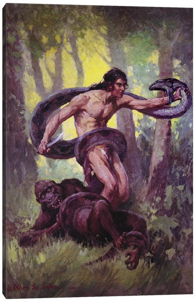 Tarzan Lord Of The Jungle Canvas Art Print