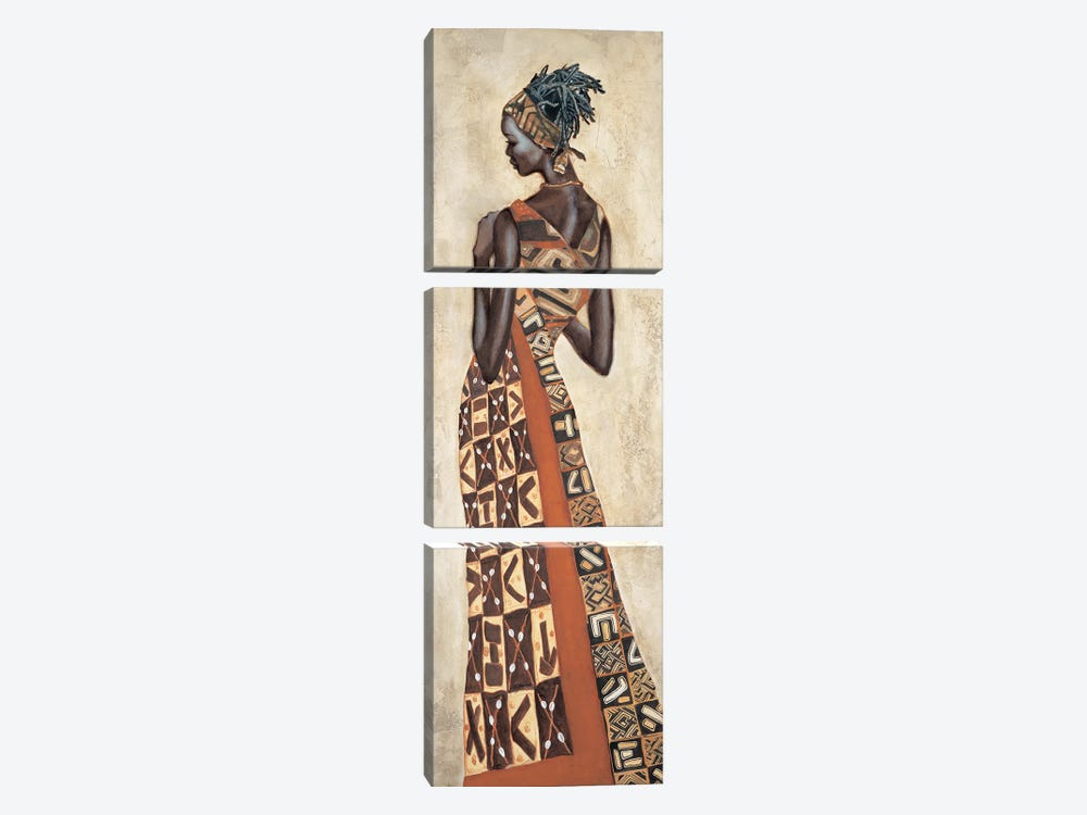 Femme Africaine II by Jacques Leconte 3-piece Canvas Art Print