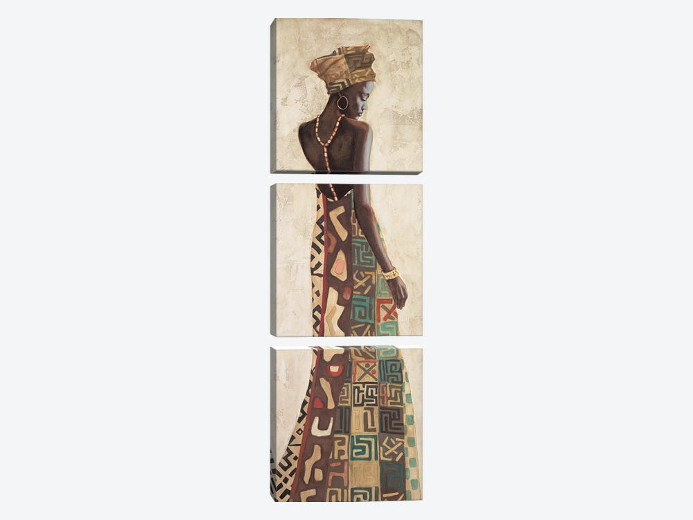 Femme Africaine III by Jacques Leconte 3-piece Canvas Art