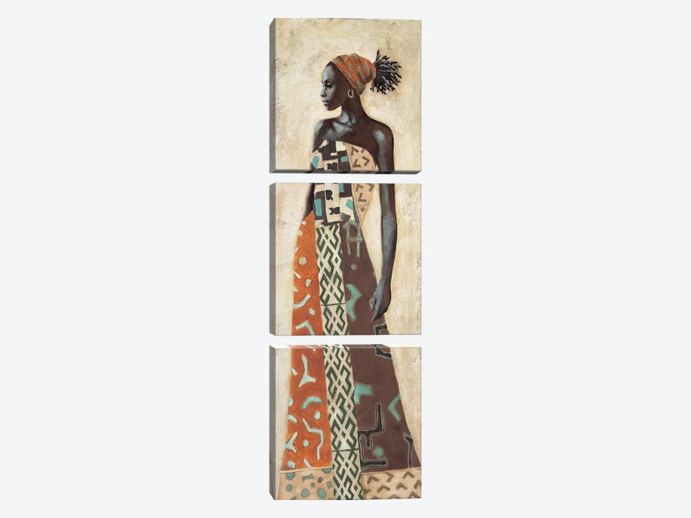 Femme Africaine IV by Jacques Leconte 3-piece Canvas Art Print
