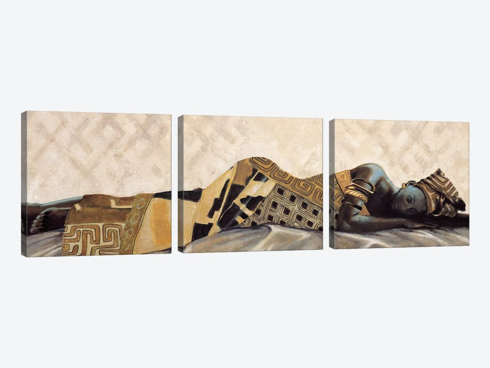 Femme Africaine VI by Jacques Leconte 3-piece Canvas Print