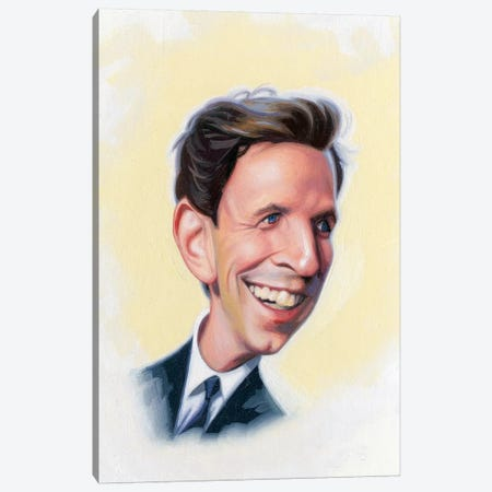 Seth Meyers Canvas Print #JAM10} by James Bennett Art Print