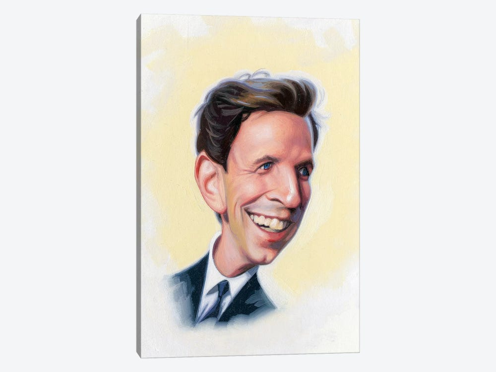 Seth Meyers by James Bennett 1-piece Canvas Print