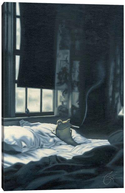 Smokin' Frog Canvas Print #JAM11