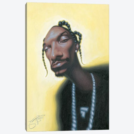 Snoop Dogg Canvas Print #JAM12} by James Bennett Art Print