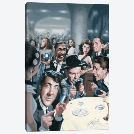 The Rat Pack Tweets Canvas Print #JAM14} by James Bennett Canvas Wall Art