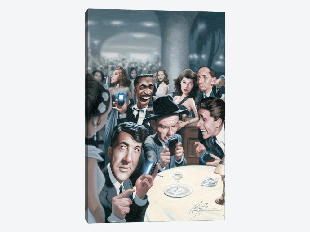 The Rat Pack Tweets by James Bennett 1-piece Canvas Art Print
