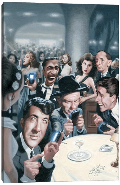 The Rat Pack Tweets Canvas Art Print