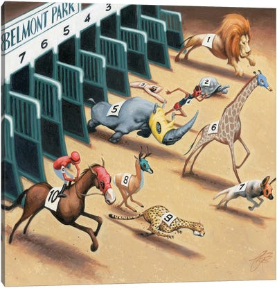 Animal Race Canvas Art Print