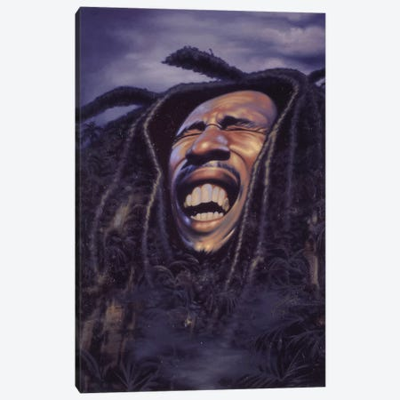 Bob Marley Canvas Print #JAM2} by James Bennett Art Print