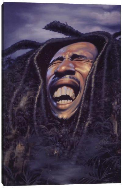 Bob Marley Canvas Print #JAM2