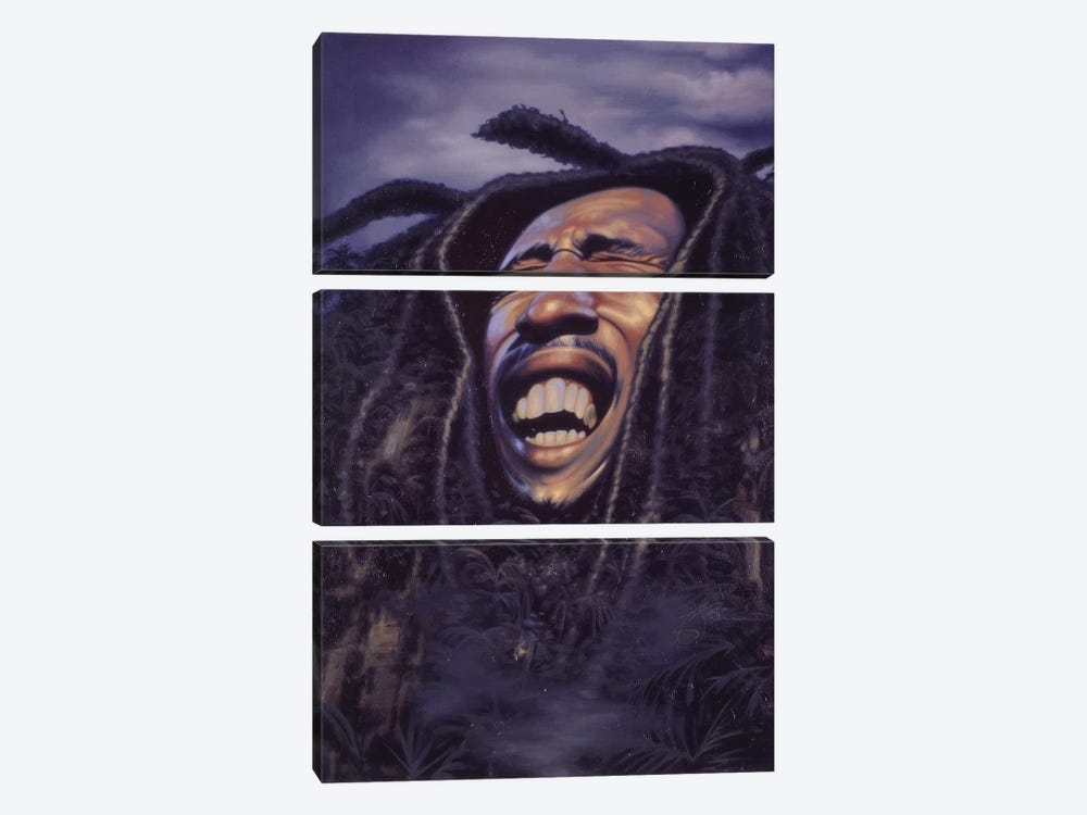 Bob Marley by James Bennett 3-piece Canvas Wall Art