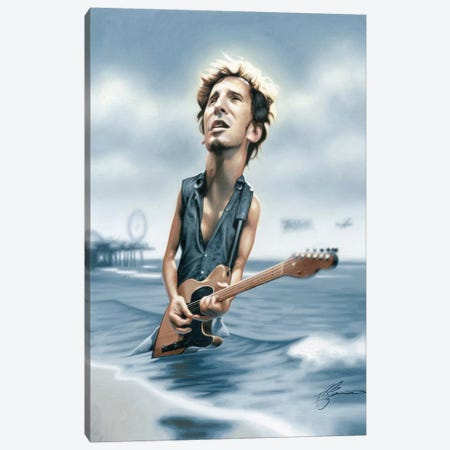 Bruce Springsteen Canvas Print #JAM3} by James Bennett Canvas Art Print