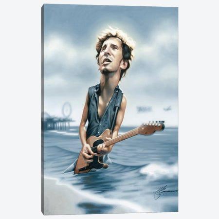 Bruce Springsteen Canvas Print #JAM3} by James Bennett Canvas Art Print