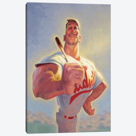 Casey At The Bat Canvas Print #JAM4} by James Bennett Canvas Art