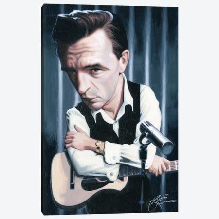 Johnny Cash Canvas Print #JAM5} by James Bennett Canvas Wall Art