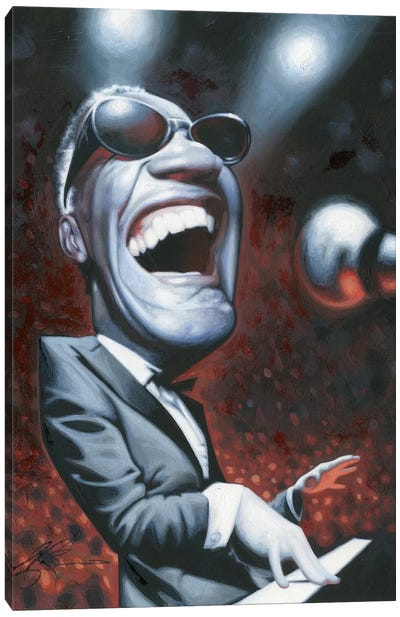 Ray Charles Canvas Print #JAM8