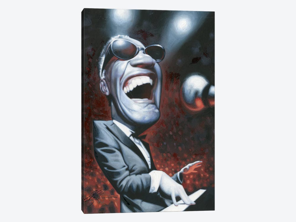 Ray Charles by James Bennett 1-piece Canvas Artwork