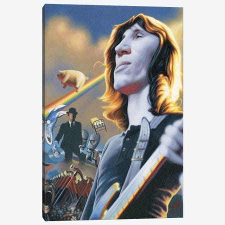 Roger Waters Canvas Print #JAM9} by James Bennett Art Print