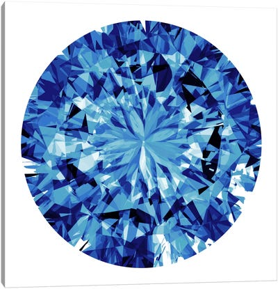 Shine On In Blue Canvas Art Print