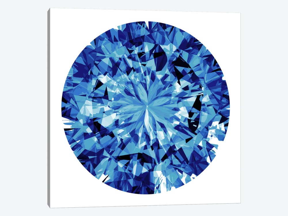 Shine On In Blue 1-piece Canvas Wall Art