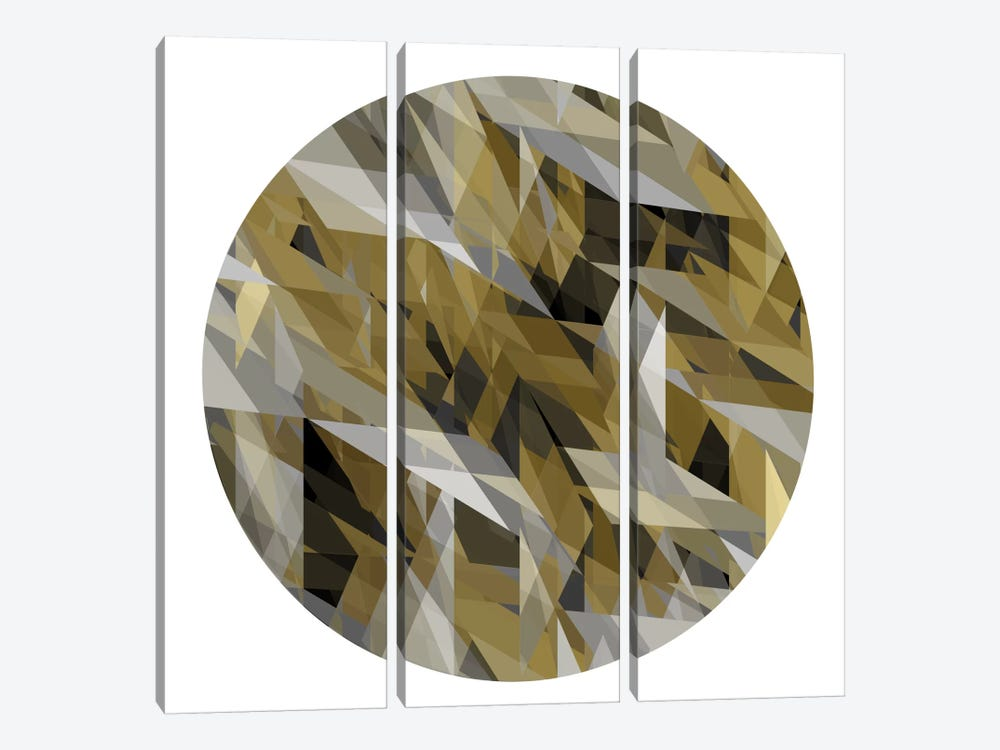 Facets In The Round III by Jan Tatum 3-piece Canvas Art