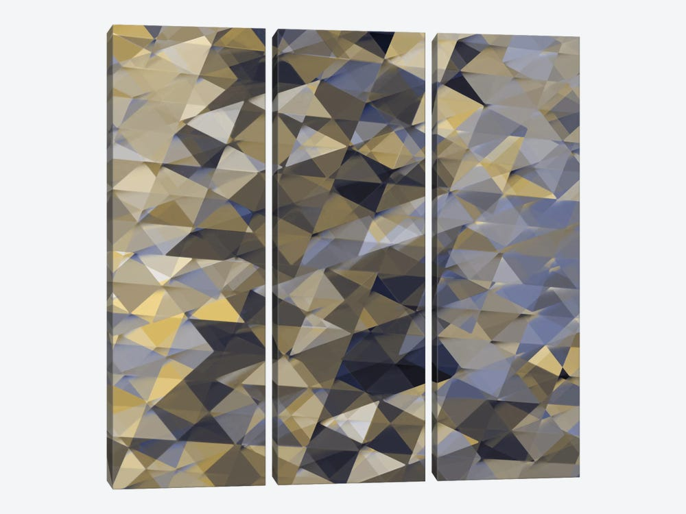 Geometric Squared I by Jan Tatum 3-piece Canvas Art Print