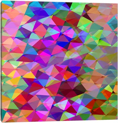 Geometric Squared V Canvas Art Print