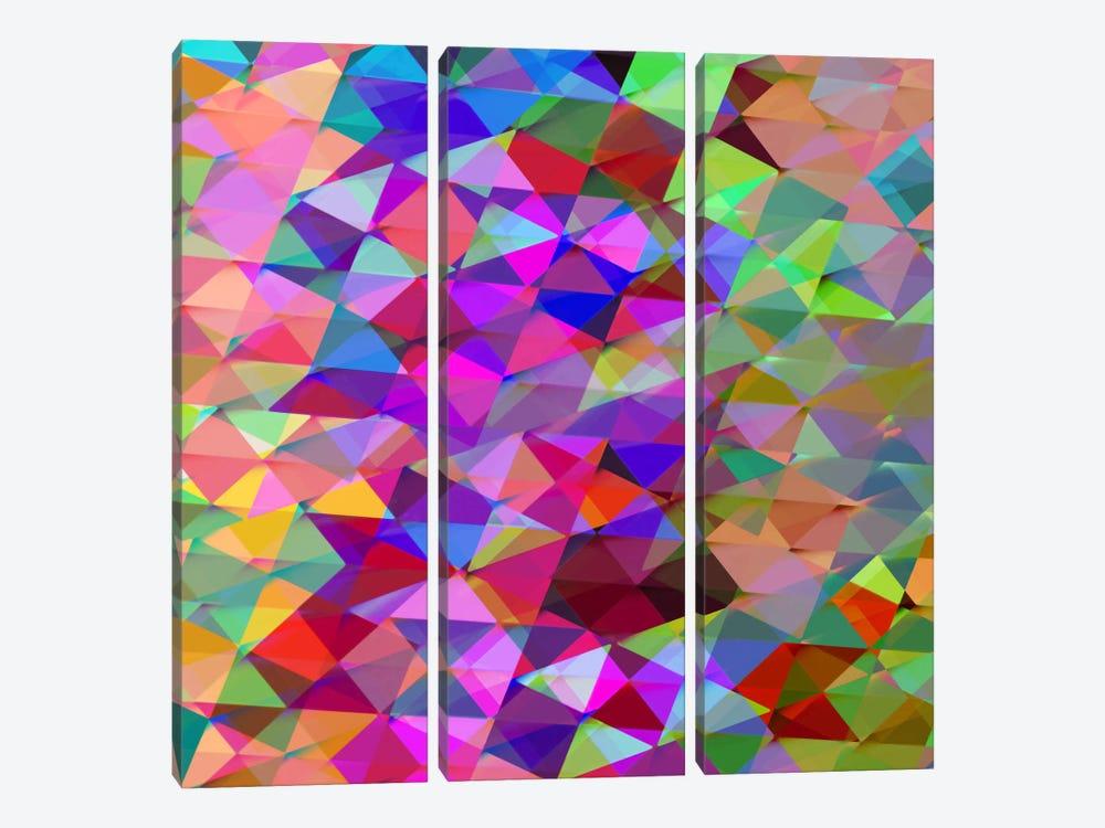Geometric Squared V by Jan Tatum 3-piece Art Print