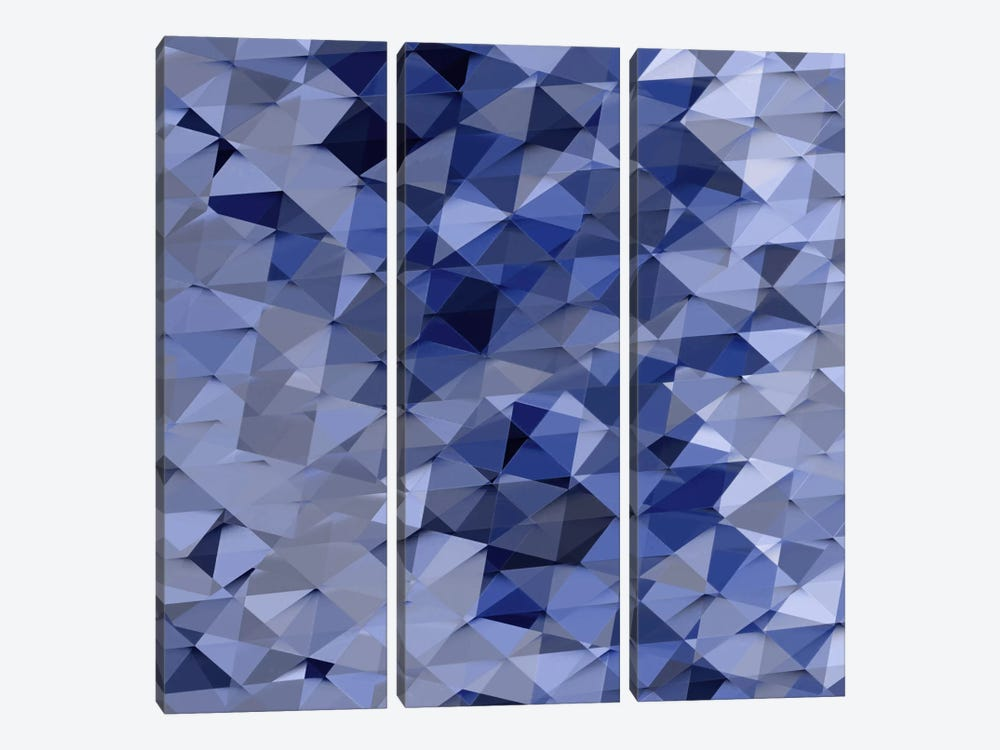 Geometric Squared VI by Jan Tatum 3-piece Canvas Wall Art