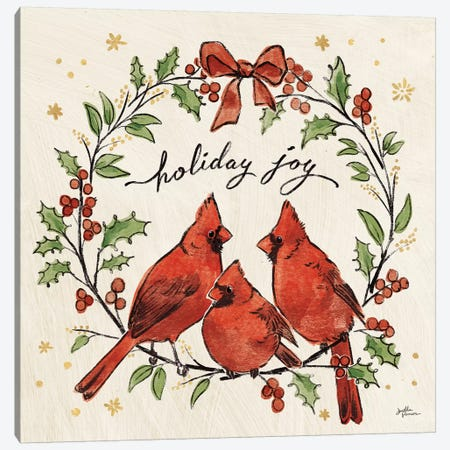 Christmas Lovebirds XI Canvas Print #JAP102} by Janelle Penner Canvas Print