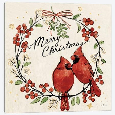 Christmas Lovebirds XII Canvas Print #JAP103} by Janelle Penner Canvas Art Print